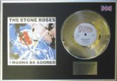 "THE STONE ROSES -7"" Platinum Disc+cover- I WANNA BE ADORED"
